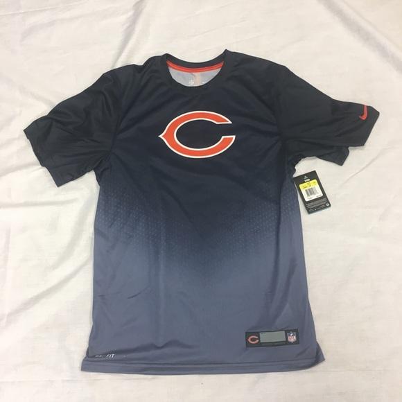8a350b39 Chicago Bears Nike Dri-Fit Players Sideline Shirt NWT